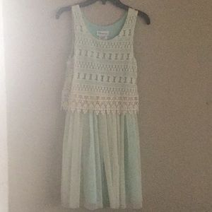 Girls' lacy spring dress